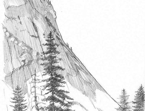 Happy Isles – Pencil Sketch
